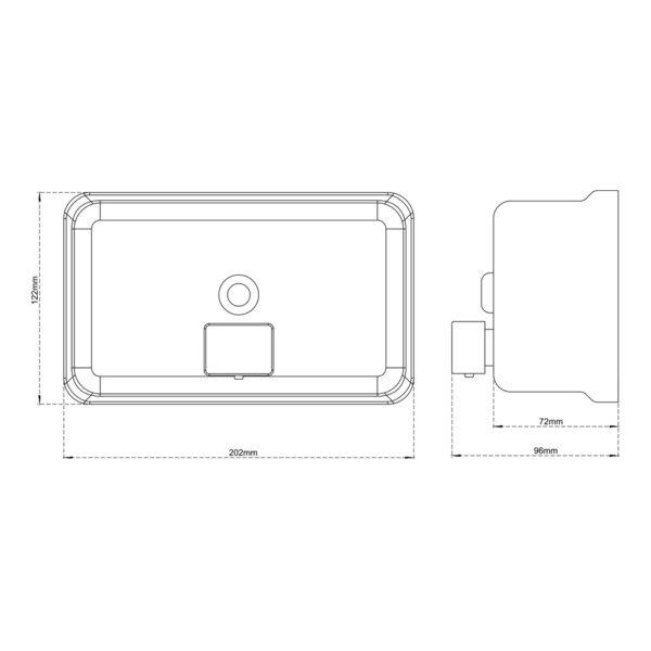 Lotion (Liquid) Dispenser Horizontal (Wall Mounted)