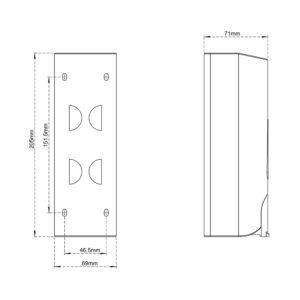 Lotion (Liquid) Dispenser (Wall Mounted)