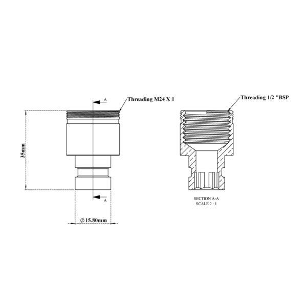 Washing Machine Nozzle with Aerator Thread