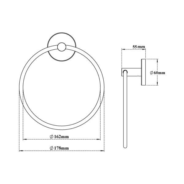 Towel Ring Round H2O