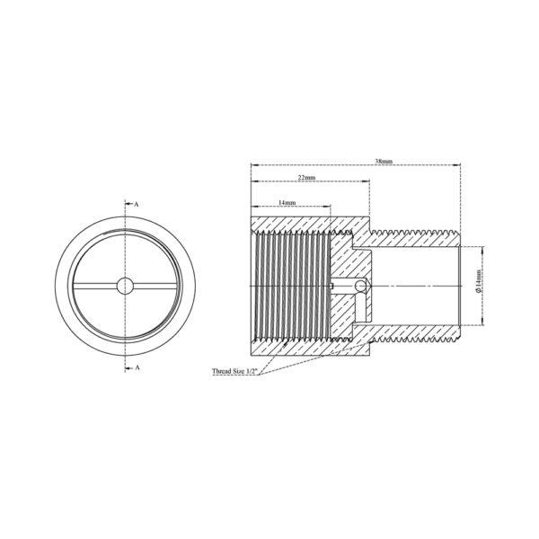 Extension Nipple-Flow Restrictor