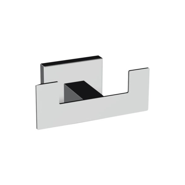 Robe Hook Double-Whole Square