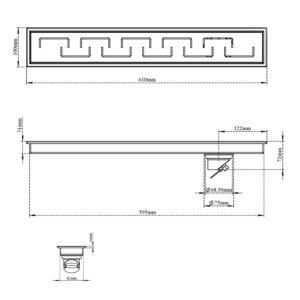 Shower Channel Drain – C Square
