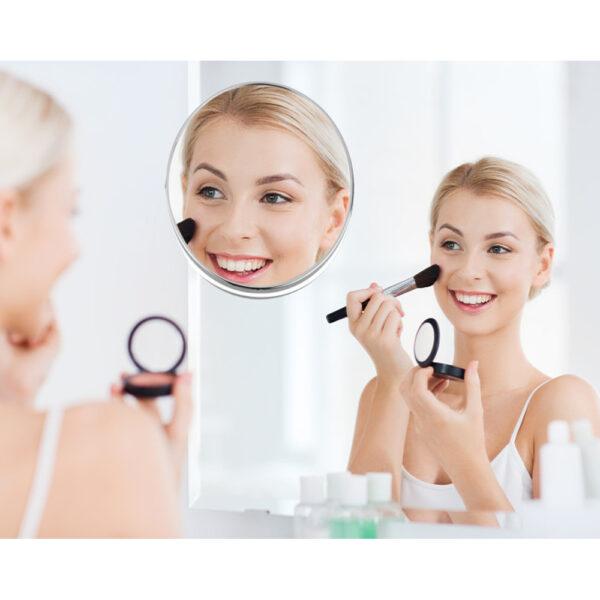 Shaving/Makeup Mirror – No Installation Required.