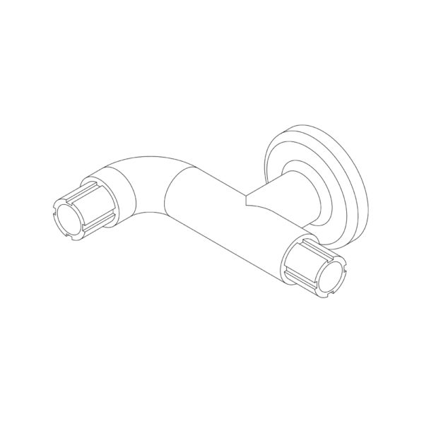 2 Wall Elbow Connector 90°-with post