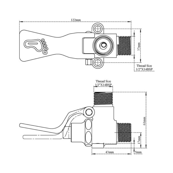 Foot (Pedal) Operated Tap & Hose
