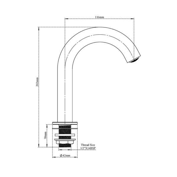 Foot (Pedal) Operated Tap,Hose & Spout