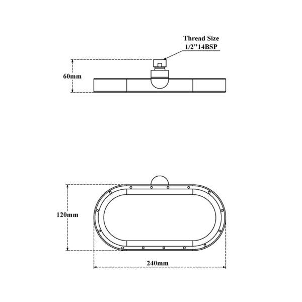 Rain Shower-Oval Ring
