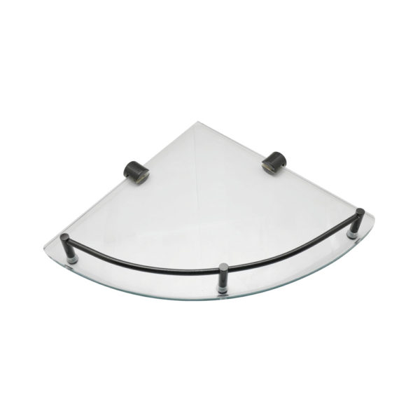 Corner Glass Shelf with Rail-H2O