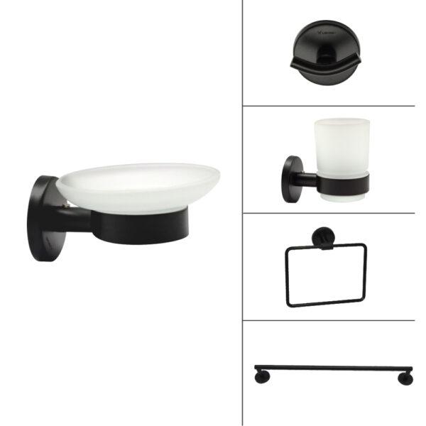H2O Bath Accessories - Black finish